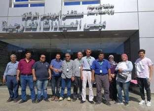 بالصور.. انتهاء أعمال قافلة جامعة المنصورة الطبية في مستشفى أبو رديس