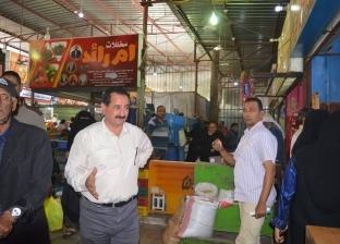 """رئيس المحلة يتفقد بيع البطاطس للمواطنين في أسواق """"تحيا مصر"""""""