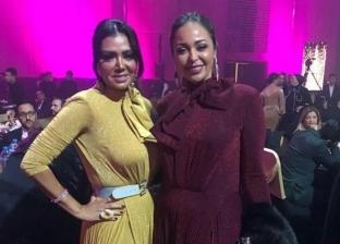 """رد فعل رانيا يوسف وداليا البحيري بعد تشابه فستانيهما في حفل """"ديرجيست"""""""