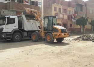 رفع مخلفات الهدم بشارع سانت نقولا بالإبراهيمية في الإسكندرية