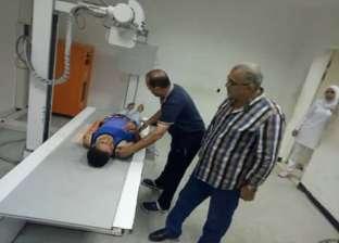 """وكيل """"صحة دمياط"""" يتفقد """"طوارئ كفر سعد"""" ويتابع إجراءات مكافحة العدوى"""
