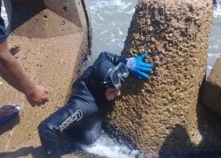 بحر عالٍ ومياه عكرة.. قائد فريق الإنقاذ يوضح مستجدات البحث عن جثة شادي
