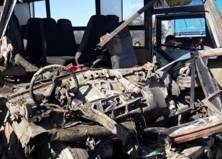 إصابة 16 في تصادم سيارة نقل وأتوبيس ركاب بالبحيرة