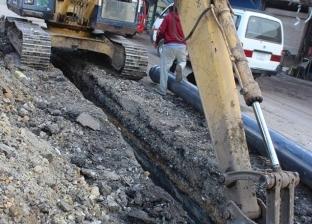انقطاع المياه عن قرية بشبين القناطر بسبب كسر مفاجئ