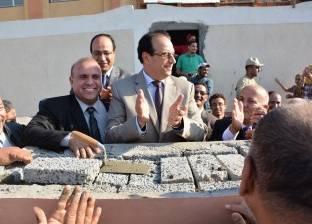 محافظ الدقهلية يضع حجر الأساس لمدرسة الرئيس عبد الفتاح السيسي للغات