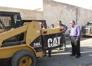 رئيس مدينة أبورديس يتفقد أعمال الصيانة بالحملة الميكانيكية بجنوب سيناء
