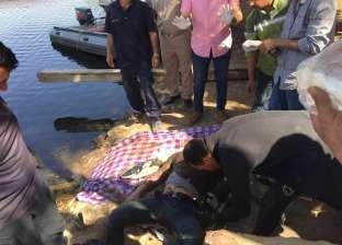 انتشال جثة شخص مجهول الهوية من مياه نهر النيل بالقناطر