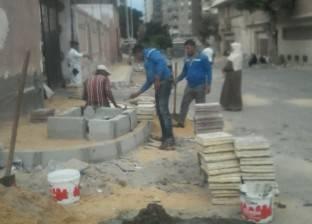 """تكثيف أعمال تطهير الشنايش بـ""""جمرك الإسكندرية"""" بعد أول سقوط للأمطار"""