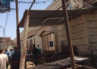 بالصور| حملة مكبرة لإزالة التعديات على نهر النيل بالزرقا في دمياط