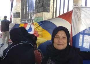 السيدات يتحدين الأحوال الجوية السيئة للتصويت بالاستفتاء في دمياط