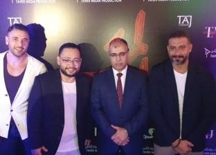 """بالصور والفيديو.. أحمد عز يحضر أول عروض فيلم """"الممر"""" في الأردن"""