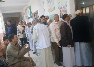 زحام واحتفالات أمام لجان الاستفتاء بالمطرية في الدقهلية