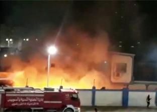 حريق مصنع ملابس بالسويس