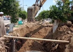 """""""مياه القناة"""": انتهاء أعمال إصلاح هبوط أرضي بشبكة صرف في الإسماعيلية"""