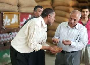 بالصور| مدير إدارة الإرشاد الزراعي يتفقد هناجر توريد القمح في سمنود