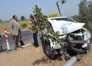 إصابة 3 في حادث اصطدام سيارة أمام قرية مارينا الساحل الشمالي