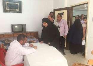 رئيس مدينة السرو بدمياط يتفقد أعمال القافلة الطبية المجانية