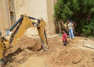 مركز الخارجة يواصل إصلاح أعطال شبكات المياه