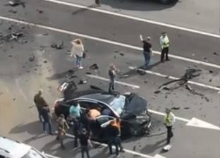 مصرع طفل وإصابة 6 في حادث تصادم على طريق ميت غمر بالدقهلية