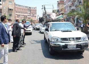 مدير أمن بورسعيد يشرف على حملة إزالة إشغالات بالمناخ