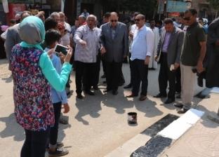 """""""جمل مدينتك"""" تواصل أعمالها بنظافة وتشجير """"منشأة عبدالله"""" في الفيوم"""