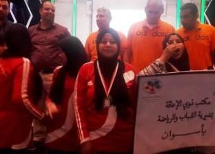 ذوو الإعاقة بأسوان بالمرتبة الثالثة في مسابقة كرة السلة بالإسكندرية