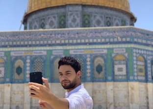 """أحمد جمال يزور المسجد الأقصى: """"الحمد لله دخلت القدس"""""""