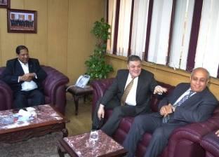 بالصور| محافظ الغربية يستقبل رئيس حزب الوفد