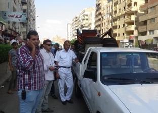 مباحث مرافق السويس تنفذ حملة أمنية لإزالة الإشغالات من الشوارع