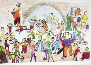 655 طفلاً يعبرون عن حبهم لمصر فى معرض «لون»