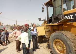 """حملة لمنع وقوف سيارات النقل على جانبي طريق """"الفيوم - القاهرة"""""""