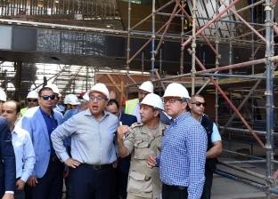 رئيس الوزراء يتفقد تطورات الأعمال الإنشائية للمتحف المصري الكبير