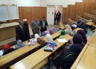 """""""المحرصاوي"""" يتابع انتظام الدراسة بكلية الدراسات العليا بجامعة الأزهر"""