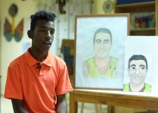 «منسي حي ميتنسيش».. «مبروك» يرسم بطل «البرث» في ذكرى استشهاده: قدوتي