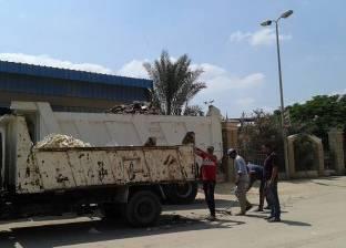 حملة لرفع أكوام القمامة وتراكمات التراب من شوارع الدلنجات في البحيرة