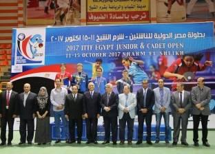 بالصور| ختام فعاليات البطولة الدولية لتنس الطاولة بشرم الشيخ