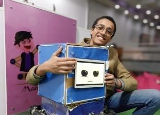 """""""مؤمن"""" يخترع روبوت لخدمة مصابي كورونا بالمستشفيات: أحلم بتطبيقه"""