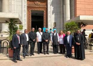 الوفد الكنسي الكاثوليكي الإيطالي يزور المتحف المصري