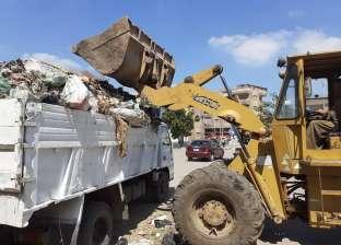صور.. حملات لنظافة الشوارع وإصلاح خطوط مياه الشرب بفوه في كفر الشيخ