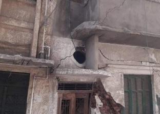سقوط أجزاء من عقار دون إصابات في المنتزه الأول
