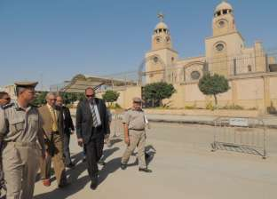 مدير أمن المنيا يتفقد التمركزات الأمنية وكنائس سمالوط