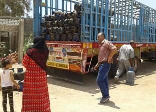 ضبط 498 عبوة مواد غذائية وأسطوانات غاز مدعم في حملة تموينية بالغربية