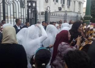 """على نغمات """"تسلم الأيادي"""".. بدء حفل زفاف جماعي في المنيا"""