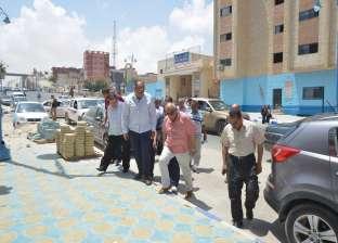 علاء أبوزيد يتابع أعمال تجميل وتطوير مدينة مرسى مطروح