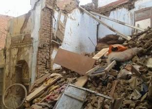 """مصرع وإصابة 4 في إنهيار منزل تحت الإنشاء بـ""""كوم الصعايدة"""" بسوهاج"""