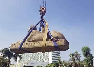 نقل تمثال «أبوالهول» وعمود «أمنمحات» للمتحف الكبير