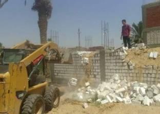 إيقاف تعديات على 150 متر أرض زراعية ببني مزار في المنيا
