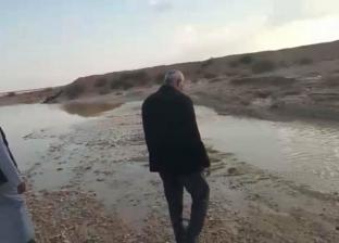 سيل محدود يصب في وديان وسط سيناء باتجاه المناطق الشرقية