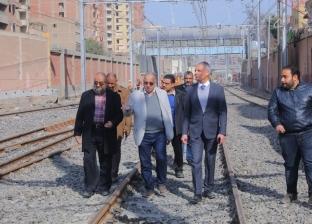 نائب وزير النقل يتفقد محطة مترو المرج الجديدة قبل انتهاء أعمال تطويرها