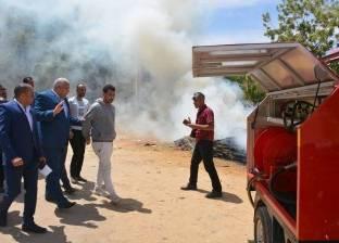 """السيطرة على حريق في زراعات """"المانجو والنخيل"""" بمحاميد إدفو"""